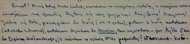 List od Marka Hłasko- opis drogi