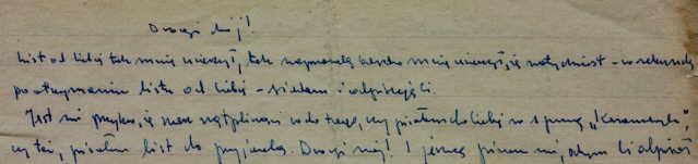 List od Marka Hłasko- początek