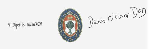 Podpis O'Conor Dona
